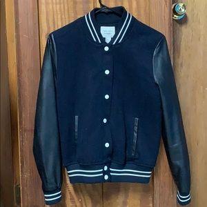 Navy blue/ black Varsity jacket